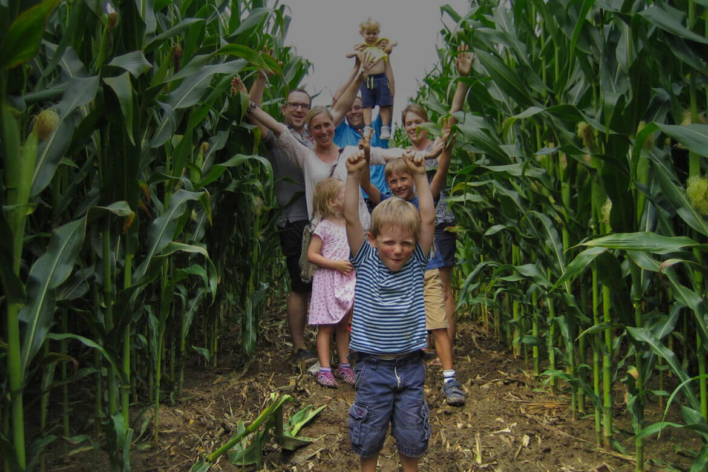 Viel Spaß im Maislabyrinth